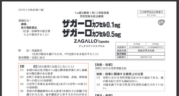 ザガーロ ザガーロ、アボルブの添付文書