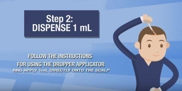 カークランド 公式の使い方2. スポイトを使って、ハゲている部分につける