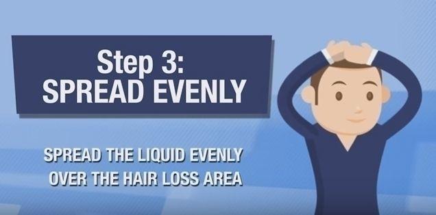 カークランド 公式の使い方3. 育毛剤をハゲている部分に手でなじませる!