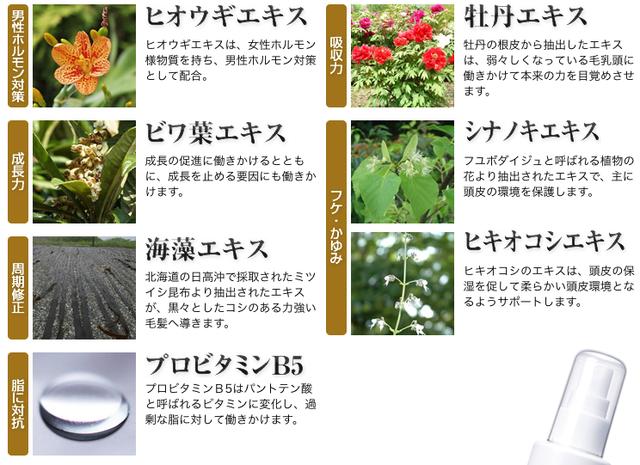 チャップアップ 7種類の毛活成分を最適配合