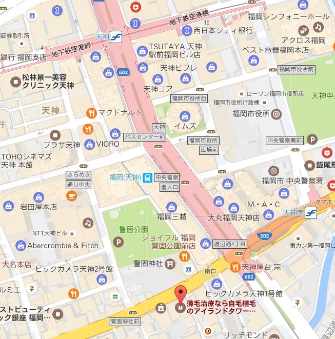 AGA専門クリニック 地図アクセス