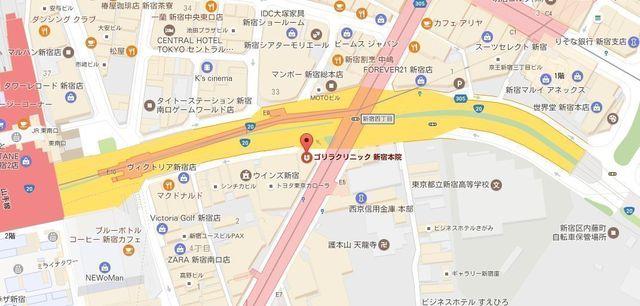 AGA専門クリニック 地図