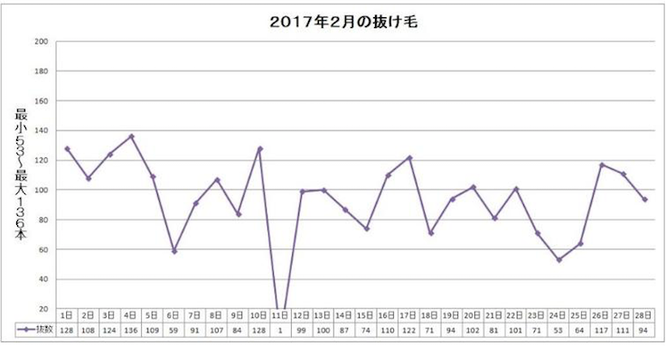 AGA治療の体験談 2017年2月1~28日:AGA治療40~68日目