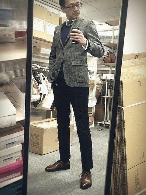 髪型 スーツ