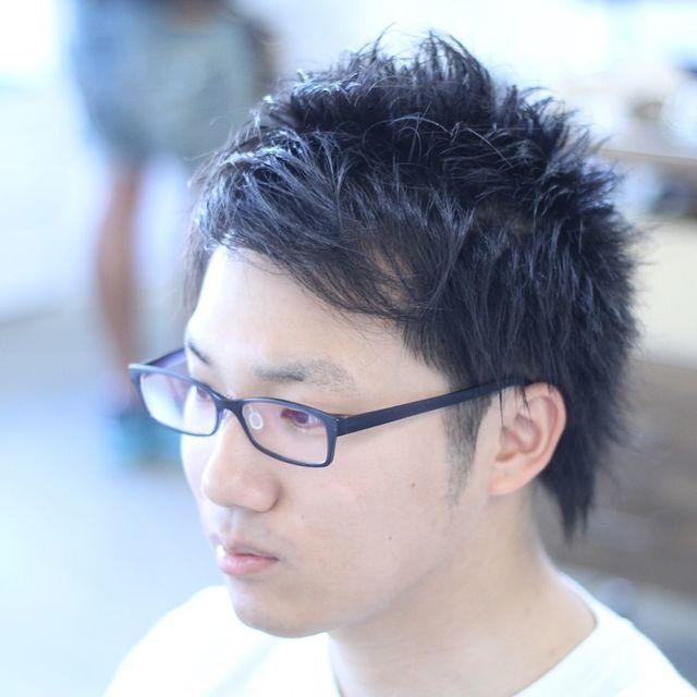 髪型 メガネ
