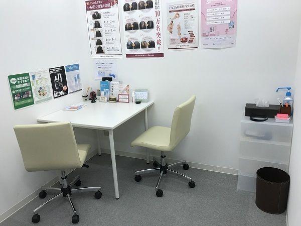 東京ビューティークリニック 2.来院したら問診票を受け取り個室へ
