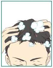 育毛剤 1.シャンプーで洗髪